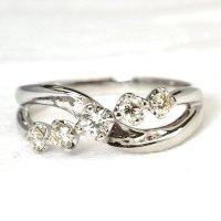 NEWデザイン!ダイヤデザイン・K18WG(ホワイトゴールド)・リング(指輪)
