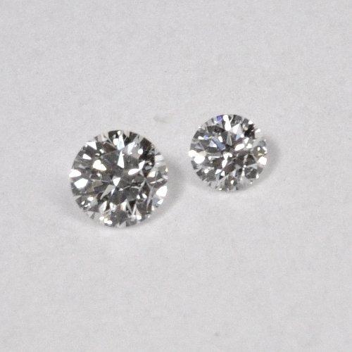 画像1: 天然石ダイヤ・ツインダイヤモンド・0.038ct・0.035ct