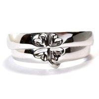 セミオーダー・指輪が重なるとクローバーになる人気の結婚指輪(マリッジリング)・Pt900(プラチナ)・ペアリング(指輪)