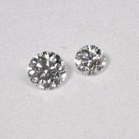 天然石ダイヤ・ツインダイヤモンド・0.038ct・0.035ct