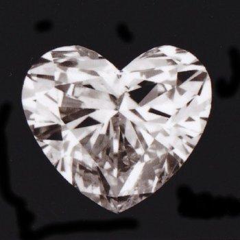 画像1: 天然石ダイヤ・ハート・0.359ct・Iカラー・SI-2・婚約指輪に最適ですよ!!売約済