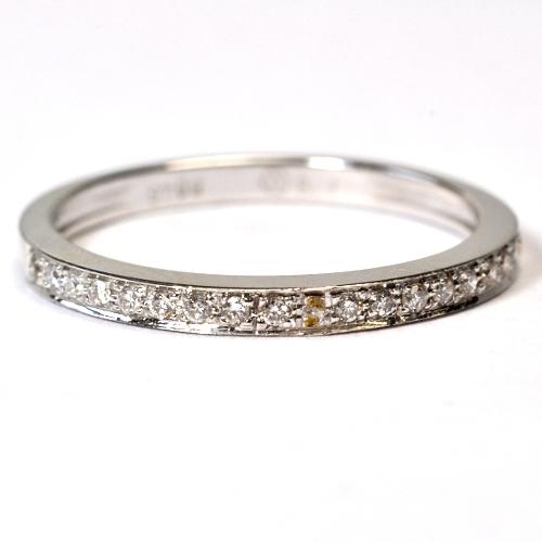 画像1: 天然石ダイヤ・ハーフエタニティリング・K18WG(ホワイトゴールド)・リング(指輪)