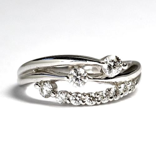 画像1: NEW☆豪華で素敵なスイート10(10周年)ダイヤリング!天然石ダイヤ・Pt900(プラチナ)・リング(指輪)売約済