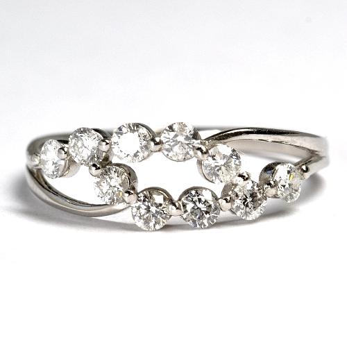 画像1: NEW☆超特価!スイート10(10周年)ダイヤリング!天然石ダイヤ・Pt900(プラチナ)・リング(指輪)売約済