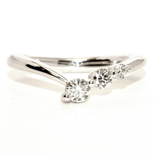 画像1: スリーストーンダイヤ・リング!天然石ダイヤ・Pt900(プラチナ)・リング(指輪)売約済