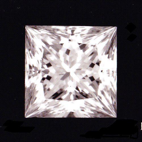 画像1: プリンセスカットダイヤ・天然石ダイヤ・0.281ct・Eカラー・VS-1・婚約指輪に最適ですよ!!売約済