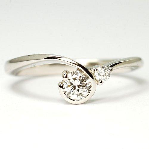 画像1: オシャレで素敵な天然石ダイヤリング!ダイヤ・Pt900(プラチナ)・リング(指輪)売約済