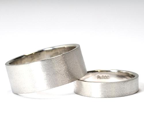 画像1: シンプルでオシャレなオーダーメイド結婚指輪(マリッジリング)・Pt900(プラチナ)・ペアリング(指輪)