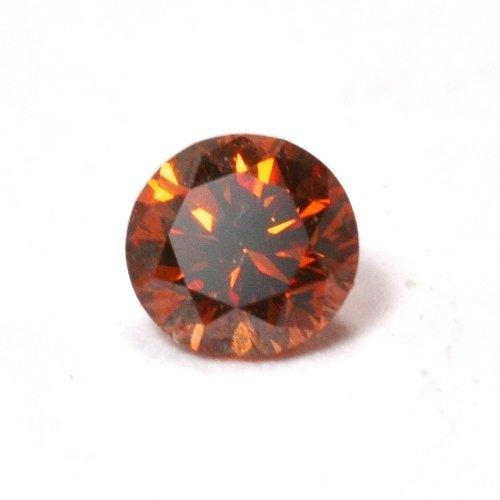 画像1: メレダイヤ・コニャックレッドの天然石ダイヤ・0.082ct・脇石や指輪・ペンダントを造るのに最適ですよ!売約済