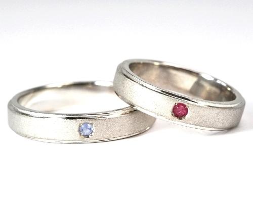 画像1: 手造り(ハンドメイド)・ツヤ消しでオシャレなオーダーメイド結婚指輪(マリッジリング)Pt900(プラチナ)・ペアリング(指輪)